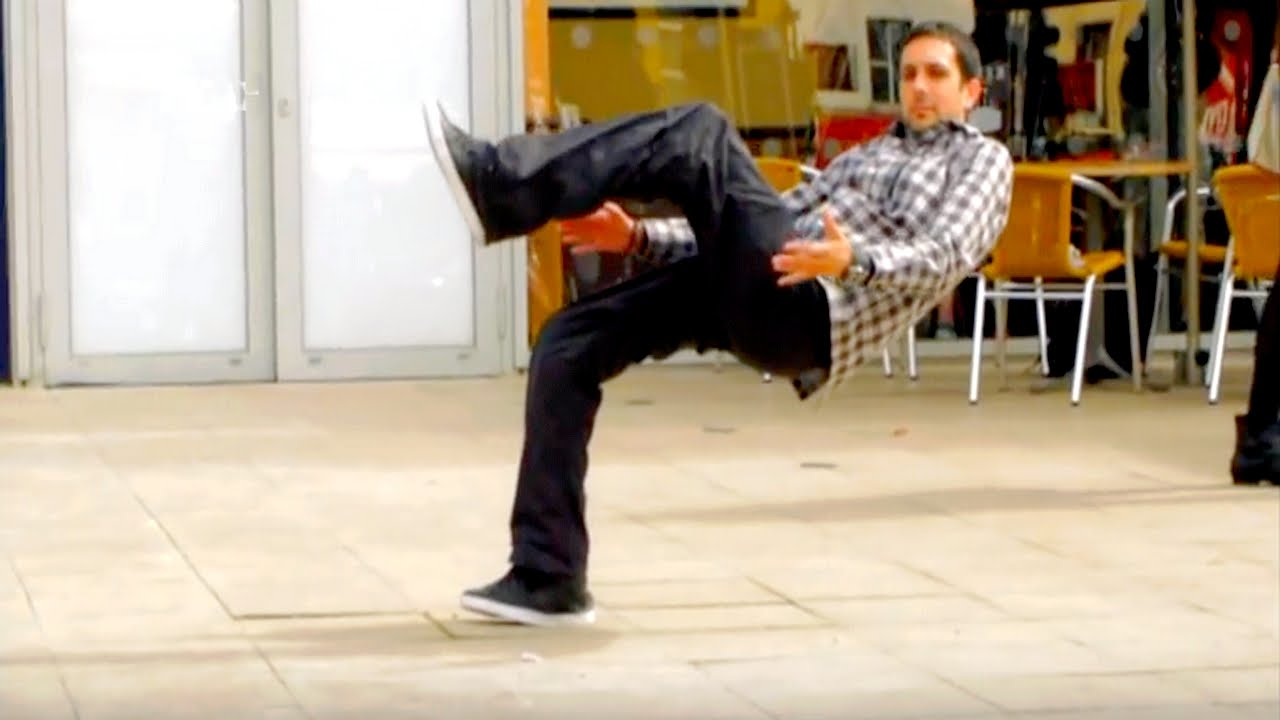 The Invisible Chair PRANK - YouTube