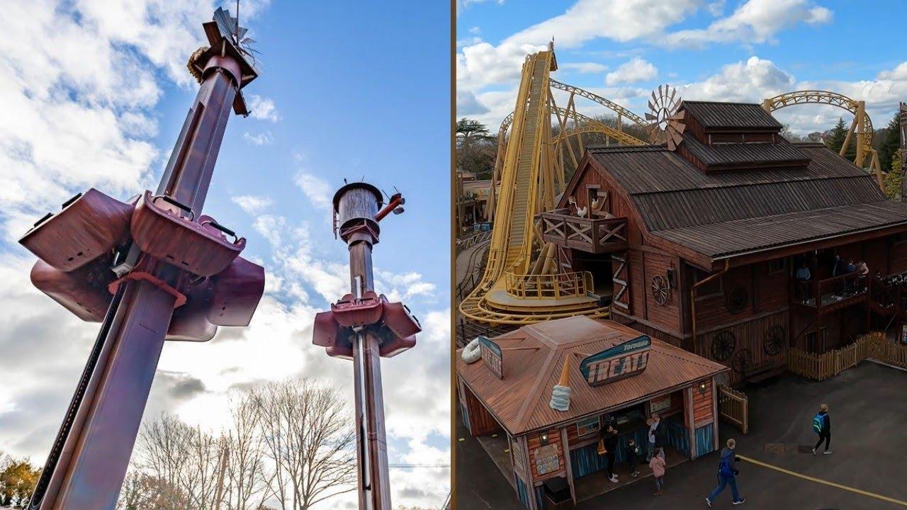Windmill Towers 4K On Ride POV - Paultons Park