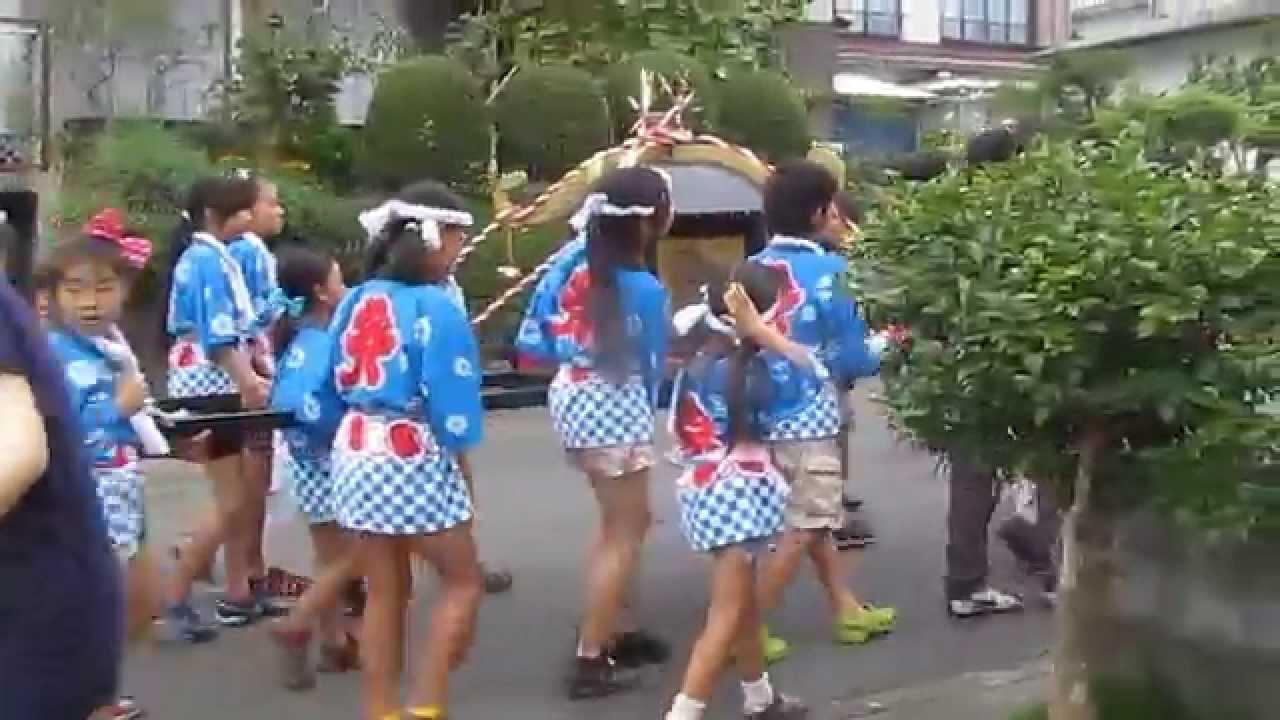 子供みこし 2014.7.26 安居山2区「納涼祭」 子供みこし