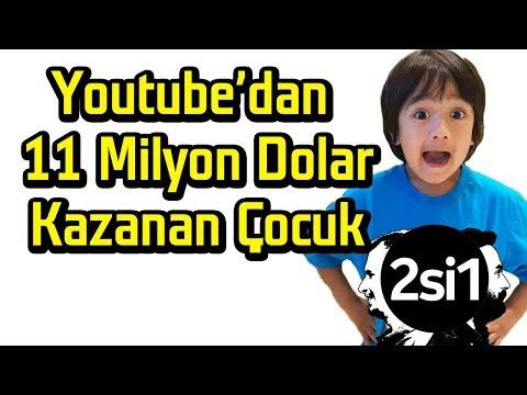 Download Youtube: Youtube'dan 11 Milyon Dolar kazanan çocuk | 2si1