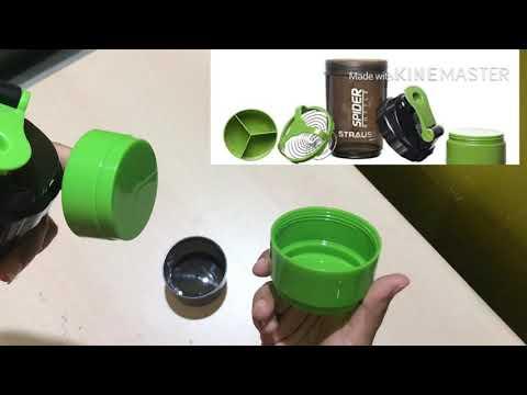 strauss-spider-shaker-bottle-500ml-un-boxing|-best-protein-shaker-bottle-in-india|-leak-testing|