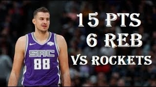 Baixar Nemanja Bjelica 15 Pts 6 Reb Houston Rockets vs Sacramento Kings