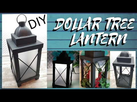 DIY DOLLAR TREE LANTERN W/ LIGHTS || HOME DECOR || 3 LOOKS IN 1!