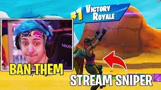 Ninja & Streamers *ANGRY* at Epic Games For Not BANNING This Stream Sniper!!