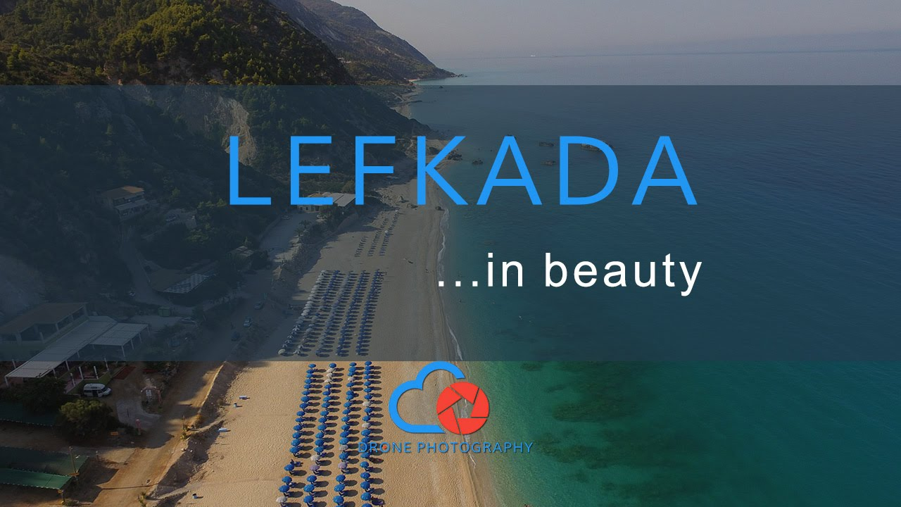 Drone above Lefkada and its beautiful beaches