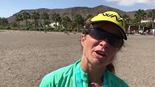 Marathon des Sables Fuerteventura winner interview Anna-Marie Watson. (ENG/ESP) Entrevista Mayayo