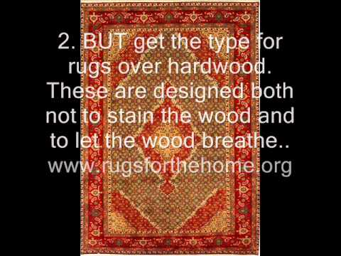 How To Keep Area Rugs From Slipping On Wood Floors Youtube