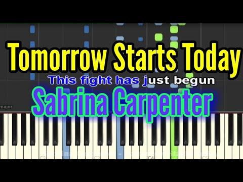 Sabrina Carpenter - Tomorrow Starts Today (Piano/ Lyrics Video)