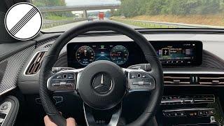 Mercedes-Benz   EQC 400 4Matic - AMG Line   Autobahn   TopSpeed POV Drive   Electric Car