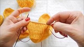 knitting tutorial: Picking up 'gap' stitches between the heel flap and instep on toe up socks.