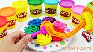 Learn Colors Play Doh Pasta Spaghetti Making Machine Baby Toy Playset Kinder Surprise Eggs for Kids