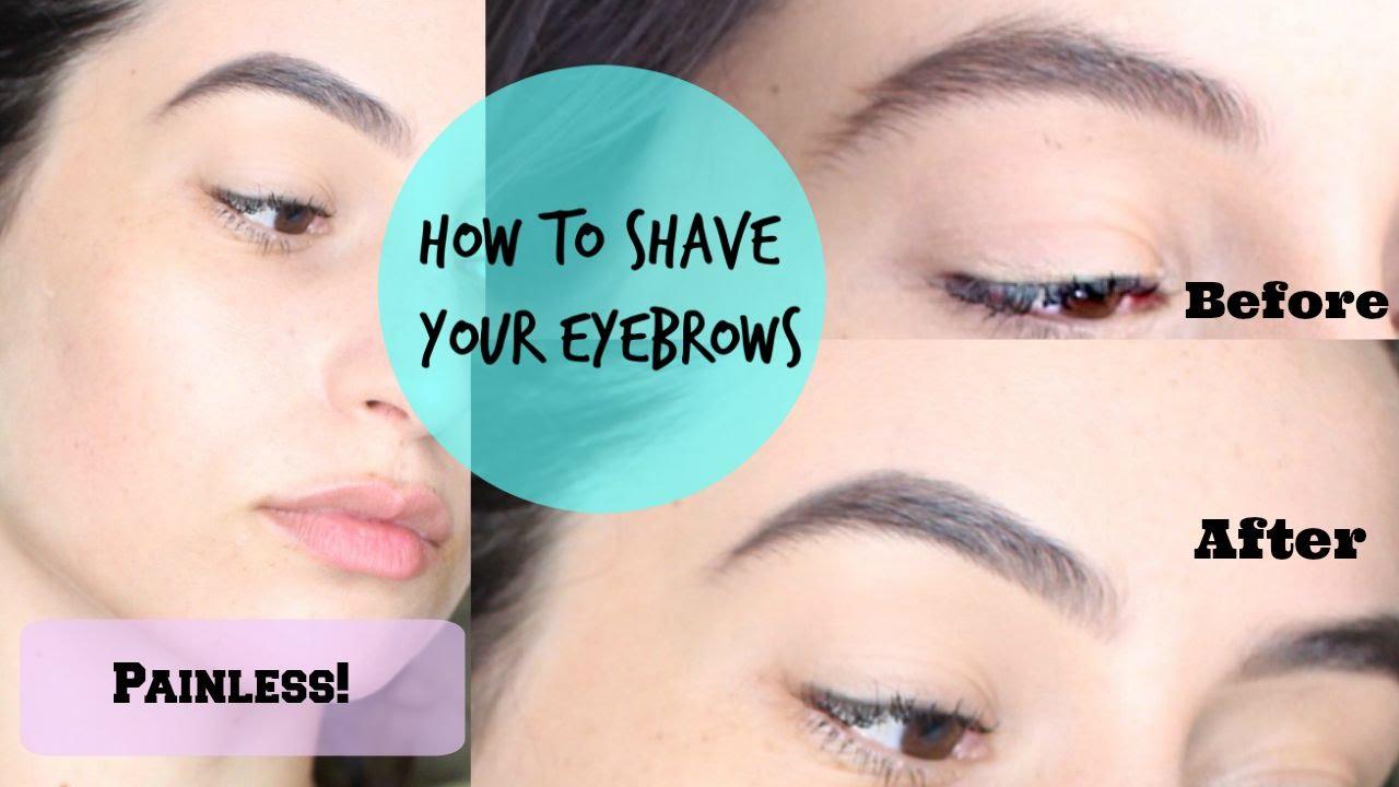Groom Eyebrows With Razor I Painless Youtube