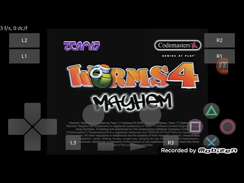 PlayStation2 PS2 Android Emulator Play! v0 30 Worms 4 - Mayhem Game Play