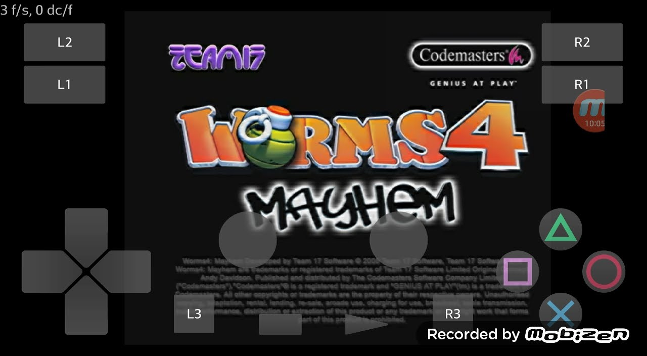Playstation2 Ps2 Android Emulator Play V030 Worms 4 Mayhem Game