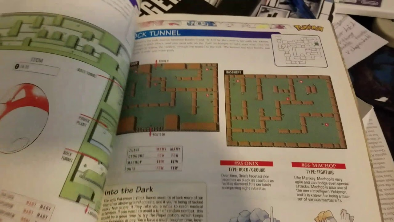 My old first gen. Strategy guide. : pokemon.