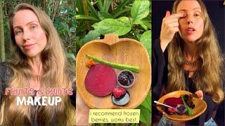 Make up made from fruits & veg! DIY, natural, cheap! #shorts