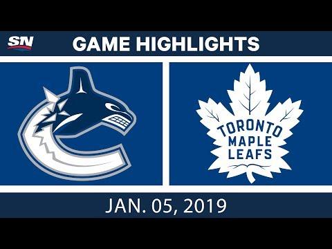 NHL Highlights | Canucks vs. Maple Leafs - Jan. 5, 2019
