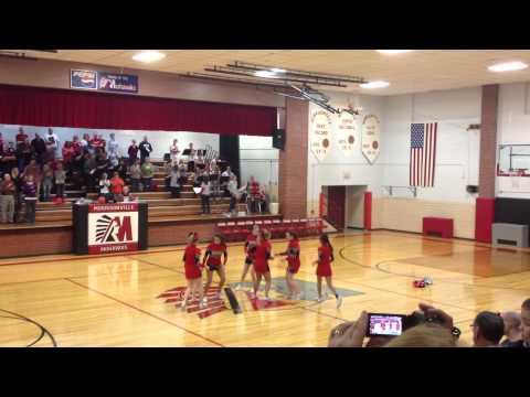 Morrisonville High School Cheer School Song 2013