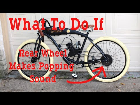 How To Fix Chain Popping Sound & Hard To Push - Motorized Bicycle thumbnail
