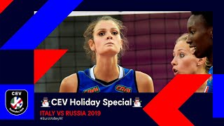 Italy vs Russia FULL MATCH | #EuroVolleyW 2019 | CEV Holiday Special