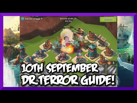 Boom Beach - Dr.Terror Guide - Stage 1-7 Volcano | 10th September | Boom Beach Event
