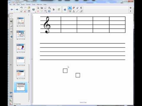 Creating a Music Staff in SMART Notebook