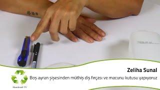 Boş Ayran Şişesinden Müthiş Diş Fırçası kutusu / How to make a toothpaste box from ayran bottle?