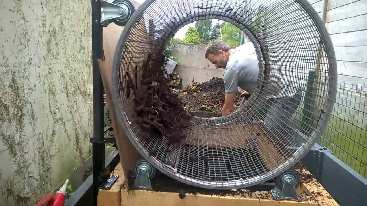Compost Sifter Engine Driven Youtube