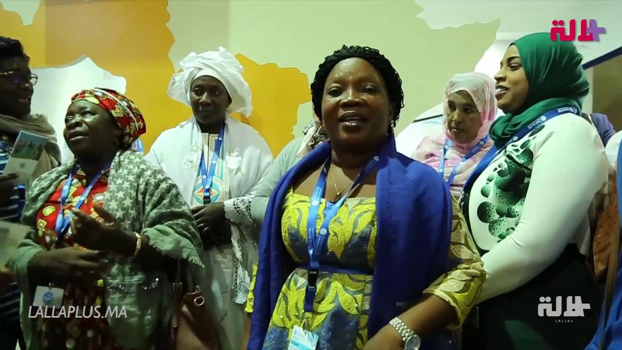 بغنائهن ورقصهن.. نساء افريقيات يخلقن الحدث في افتتاح معرض الصيد البحري بأكادير!