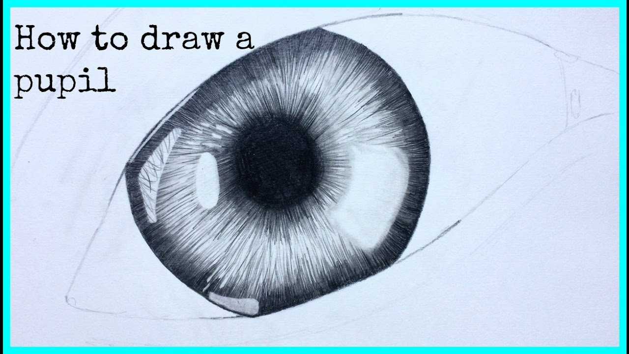 step by step how to draw a eye