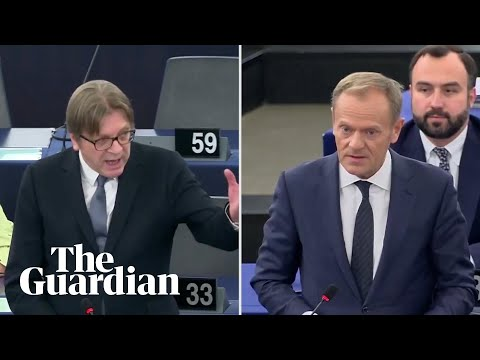 Donald Tusk and Guy Verhofstadt clash over Brexit extension