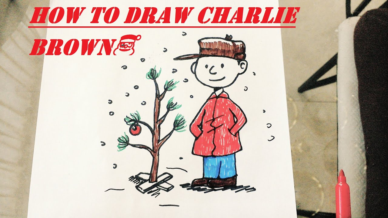 Charlie Brown Christmas Tree Drawing.How To Draw Charlie Brown Christmas
