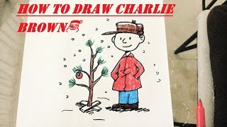 how to draw charlie brown christmas🎅🎁⛄❄