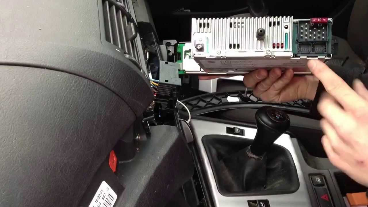 bmw mini stereo wiring diagram sony wire harness how to install connect iphone audio jack cable 3 series e46 business cd - youtube