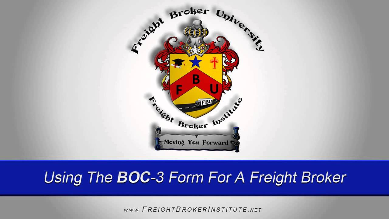 Know The Importance of Using The BOC-3 Form For A Freight Broker ...