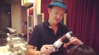 こないだ、タレントの田中涼子ちゃんをカットしてから動画を撮ってみた...
