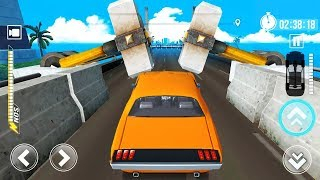 DEADLY RACE - Walkthrough Gameplay Part 2 - LEVEL 9 to 14 (Speed Car Bumps Challenge)