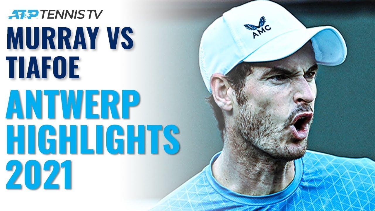 UNBELIEVABLE Andy Murray vs Frances Tiafoe Battle   Antwerp 2021 Highlights