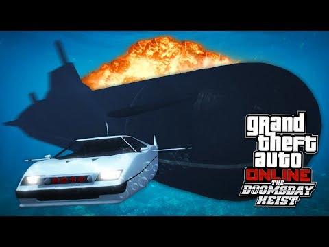 NUCLEAR SUBMARINE HEIST!! GTA 5 Doomsday Heist