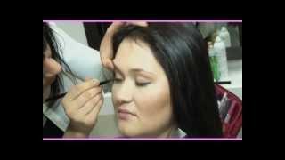 Техника шатуш для темных волос(Окрашивание на тон темнее для усиления природного цвета волос и техника шатуш для деликатного осветление..., 2013-02-17T06:42:42.000Z)
