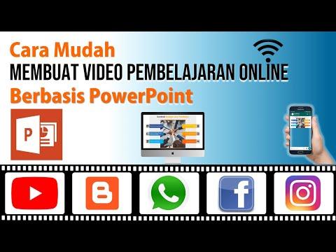 Cara Membuat Video Pembelajaran Online Berbasis PowerPoint