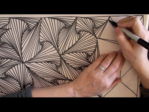 ASMR Doodling 2 (Whispering, drawing, Doodling, Zentangle, Paradox, Pursuit Curve, YouTube)