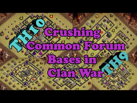 How to beat common internet forum bases in Clan Wars. TH10 and TH9