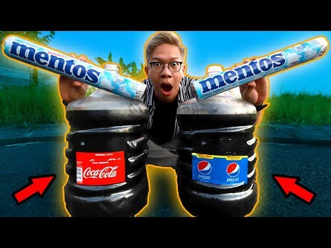 COCA-COLA GALON VS MENTOS JUMBO!!!
