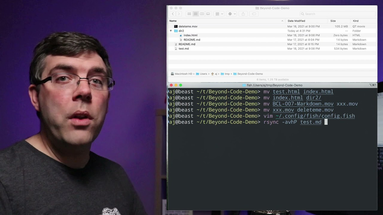 How to Move and Copy Files in Bash - Beyond Code Live-X 006.b