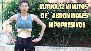 RUTINA DE ABDOMINALES HIPOPRESIVOS 12 MINUTOS- Para reducir cintura y abdomen rapidamente