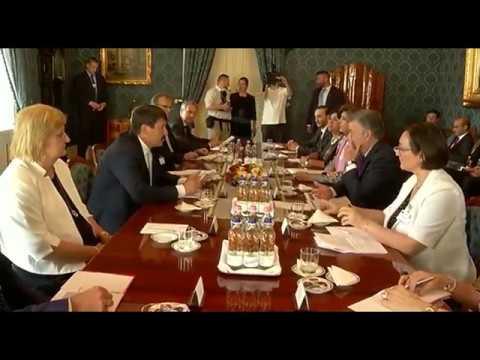 Presidente Santos se reunió con su homólogo húngaro, János Áder