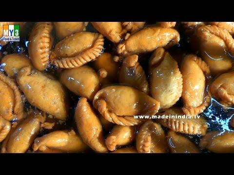 FAMOUS ANDHRA SWEET MAKING   Chandrakala or Kovaa Poori Making  