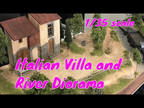 How to Build a Realistic Italian Villa and Stream Diorama -  Realistic Scenery for plastic models