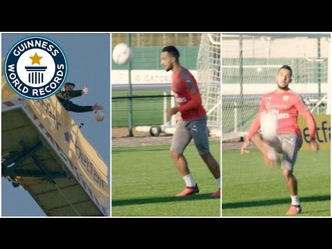 Highest altitude football dropped and controlled - Guinness World Records